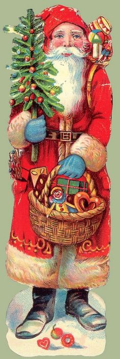 Red Cloak Santa - reminds me of my sweet German Grandmother and her decorations!