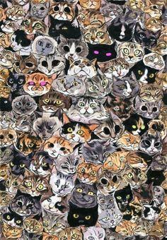 Cat draws