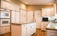 This kitchen started off with some structural renewal work to a couple cabinets, before it wass fully refaced by Kitchen Saver. Traditional style was created with details like crown modling and a furniture base, while a lighting rail conceals the modern counter lighting. A lazy susan was added to one base cabinet to increase functionality. http://www.kitchensaver.com/kitchen/baltimore-md-3/