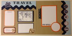 Travel Cruise Scrapbook layout using products from MFT, PTI, SU, and CTMH.