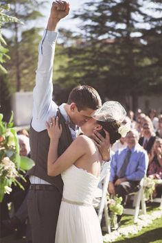 36 Adorable Wedding Kisses That'll Have You Feeling The Love #refinery29 http://www.refinery29.com/cute-wedding-kisses#slide36