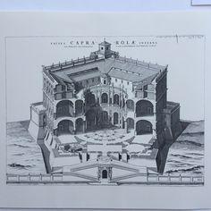 Villa Farnese, Caprarola, section view, Giacomo Barozzi da Vignola, Architecture Sketches, Classical Architecture, Historical Architecture, Ark, Concept Art, Battle, Louvre, Villa, Fantasy