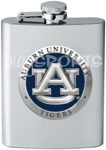 Auburn Tigers Flask by Heritage. $29.99. This high quality 8oz Auburn Tigers Flask is officially licensed and features a colored pewter logo of your favorite team. This unique product makes a great gift! Made in the USA.