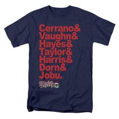 a64b115b1 Trevco Major League-Team Roster Short Sleeve Adult 18-1 Tee, Navy - Small