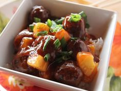 Sweet and Sour Meatballs recipe from Ree Drummond via Food Network, Meatball Recipes Sweet N Sour Meatball Recipe, Sweet And Sour Meatballs, Meatball Recipes, Beef Recipes, Cooking Recipes, Recipies, Barbecue Recipes, Cooking Tips, Chicken Recipes
