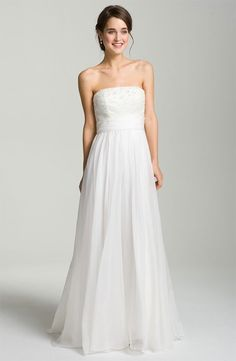 THEIA Embellished Strapless Organza Gown Size 14   eBay tried this dress on at a store and loved it...but a size 14 is probs too big to take in to an 8...keep eyes peeled for more