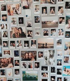 Creative Polaroid Picture Display Inspirations – The Urban Interior - Dream rooms Polaroid Wand, Photo Polaroid, Mini Polaroid, Polaroid Camera, Polaroid Pictures Display, Polaroid Display, Polaroids On Wall, Polaroid Decoration, Polaroid Collage