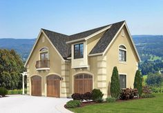European Carriage Home Plan - 23446JD   2nd Floor Master Suite, CAD Available, Carriage, Cottage, European, PDF   Architectural Designs