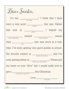 Notes to and from the north pole education french christmas fill in a letter to santa spiritdancerdesigns Images