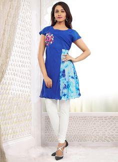 Stylish Blue Georgette Kurti