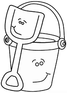 Bucket And Shovel Coloring Page Summer Coloring Pages Coloring