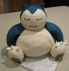 Snorlax Cake Snorlax Pokémon cake for a birthday. His arms and paws are rice kr… Snorlax Cake Snorlax Pokémon cake for a birthday. His arms and paws are rice krispies treats covered in fondant, everything else… Baby Pokemon, Pokemon Snorlax, Pikachu, Pokemon Torte, Pokemon Cakes, Nintendo Cake, Pokemon Birthday Cake, 5th Birthday, Birthday Ideas