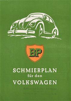 VW - 1952 - Schmierplan für den Volkswagen - [1407]-1