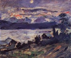 Lovis Corinth Landscapes (by BoFransson). Lovis Corinth was a German painter and printmaker whose mature work realized a synthesis of impressionism and expressionism - part of Berlin Secession group, becoming president after Lieberman. Figure Painting, Painting & Drawing, Art Nouveau, Post Impressionism, Art Database, Vintage Artwork, Art And Architecture, Great Artists, Contemporary Art
