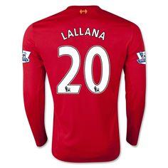 Liverpool Jersey 2015/16 Home LS Soccer Shirt #20 LALLANA