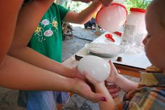 Alien Bubbles - using dry ice and a funnel contraption in bubble solution. Very cool.