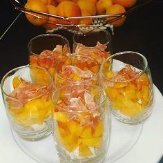 Verrines #abricots, #gorgonzola, #jamboncru #gressin #abricocorico #interfel #lesfruitsetlegumesfrais Fish, Meat, Instagram, Atelier, Pisces