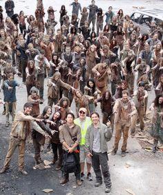 """dailytwdcast: """" traynorland: #tbt A good day to die. W/ @steveyeun & #MichaelSlovis : @gnicotero """""""