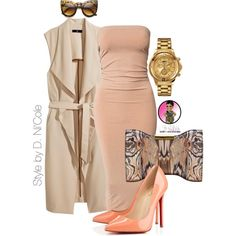 Untitled #2511 by stylebydnicole on Polyvore featuring VILA, H&M, Christian Louboutin, Alexander McQueen and Versus