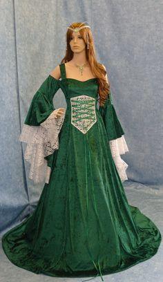 Renaissance medieval handfasting  wedding fantasy celtic dress custom made  Loooooove!