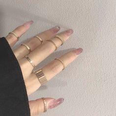Hand Jewelry, Cute Jewelry, Jewelry Rings, Fashion Rings, Fashion Jewelry, Grunge Jewelry, Grunge Accessories, Jewelry Accessories, Aesthetic Rings