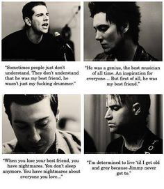 """""""So Far Away""""~ In loving memory of Jimmy Sullivan aka """"The Rev"""" of Avenged Sevenfold. foREVer in our hearts. Avenged Sevenfold Quotes, Avenged Sevenfold The Rev, Music Is Life, My Music, Rockabilly, Losing Your Best Friend, M Shadows, Jimmy The Rev Sullivan, So Far Away"""