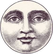 The face is like the moon.