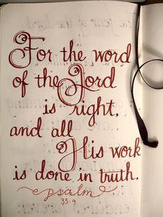 Psalm 33:4