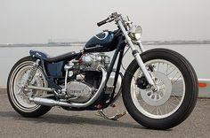 XS650 Bratstyle Bobber | love the rims and super skinny front tire on this Bratstyle XS650. I ...