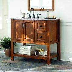 Lancaster 36 In Vanity In Amber With Alpine Ab Engineered