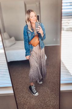Dress With Jean Jacket, Dress With Boots, Dress With Sneakers, Blazer Dress, Tiered Dress, Mom Style, Neutral Colors, Dress Making, Hate