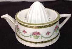 1905-1931 Beyer & Bock Royal Rudolstadt Prussia Porcelain Juice Reamer #BeyerBockRoyalRudolstadt