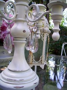 How to add chandelier crystals to anything!