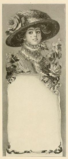 Vintage Ephemera: Blank advertising card, 1912