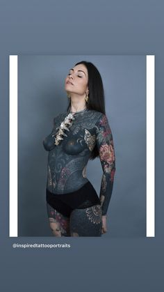 Photograph by for 🦑 - Bodysuit by Girl Face Tattoo, Hot Tattoo Girls, Tattoed Girls, Inked Girls, Hot Tattoos, Body Art Tattoos, Girl Tattoos, Hip Tattoos Women, Sleeve Tattoos For Women
