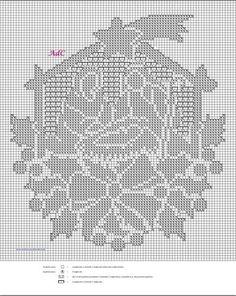 Witam:) To co wczoraj zobaczyłam na swojej tablicy na FB S Irish Crochet Patterns, Crochet Baby Dress Pattern, Filet Crochet Charts, Hardanger Embroidery, Cross Stitch Embroidery, Thread Crochet, Crochet Doilies, Cross Stitch Pictures, Modern Cross Stitch Patterns