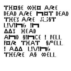 Grove typografie. Het grof opstellen van letters of een tekst