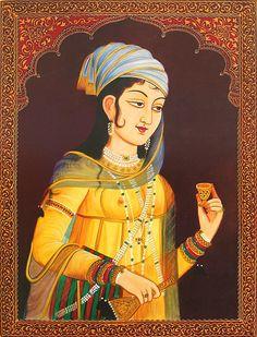 The Ravishing Mughal Princess (Reprint on Paper - Unframed) Mughal Paintings, Indian Paintings, Rajasthani Painting, Princess Painting, Wall Art Wallpaper, Indian Princess, 17th Century Art, Indian Folk Art, My Heritage
