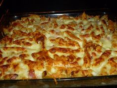 pasta soufflé in the oven Easy Snacks, Easy Healthy Recipes, Easy Meals, Eating Well, Clean Eating, Healthy Eating, Healthy Food, Greek Recipes, Balanced Diet