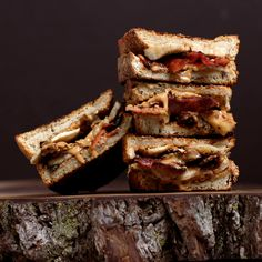 Grilled Peanut Butter, Bacon and Banana Sandwich
