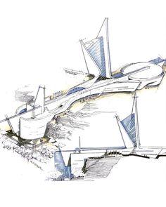 """#architecture_hunter  Incredible sketch by @amir.m.bibak57"""