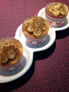 Tiramisu cupcakes, because coffee and cupcakes are a kind of love! Tiramisu Cupcakes, Vanilla Sugar, Muffin, Coffee, Breakfast, Food, Kaffee, Morning Coffee, Essen