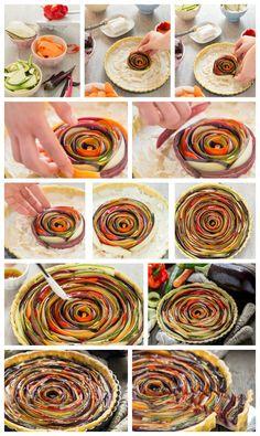 vegan #glutenfree vegetable spiral tart recipe step by step ricetta torta salata di verdure a spirale vegan senza glutine 2