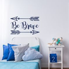 Arrows Vinyl Wall Decal- Be Brave Quote Wall Decal- Wall Decals Nursery- Wall Decal Kids- Woodland Nursery Decor- Wall Decal Arrow Decor #92 by HomyVinyl on Etsy https://www.etsy.com/listing/454931790/arrows-vinyl-wall-decal-be-brave-quote