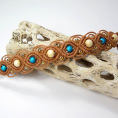 Micro Macrame Jewelry Southwestern Bracelet by LittleMarvelDesigns