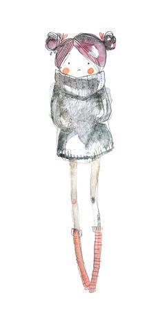 cute girl / Cécile Hudrisier