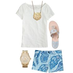 """Simple lilly outfit"" by the-southern-prep on Polyvore"