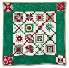 "Dear Jane quilt: ""A Little Christmas"", 31 x 31"", by Pamela Leonard Wexler. 2011 Empire Quilters Guild showcase."