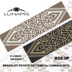Peyote bracelet pattern peyote pattern by LunamisBeadsPatterns                                                                                                                                                                                 More