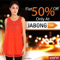 Shopping is now just a click away. Shop for your favorite garments only at http://www.jabong.com/women/clothing/109F/